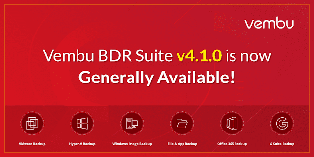 Vembu BDR Suite v4.1.0 GA with New Features