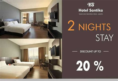 stay  nights  discount  promo hotel santika tmii
