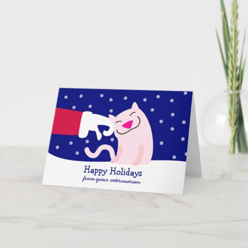 Holiday Card from Veterinarian card
