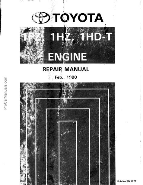PDF ONLINE - Toyota 1hd 1hz 1pz-t Engine Service Repair