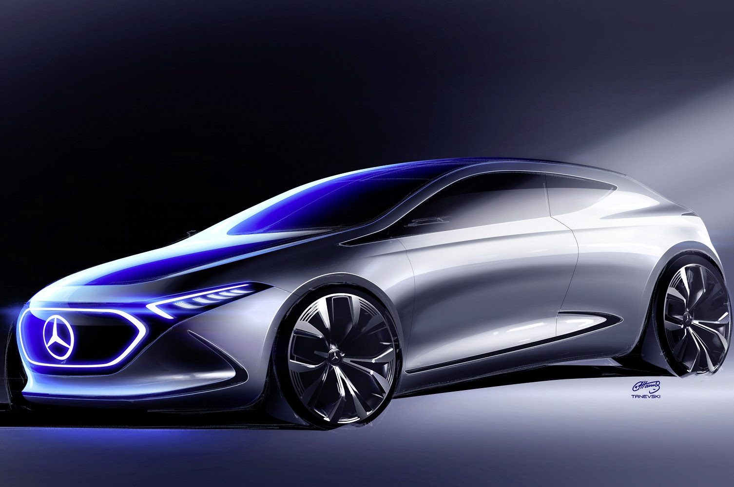 The Mercedes-Benz Concept EQA will electrify the show ...
