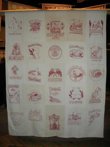 Red & White Flour sack quilt