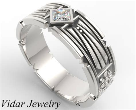 Star Wars Wedding Band For Men   Vidar Jewelry   Unique