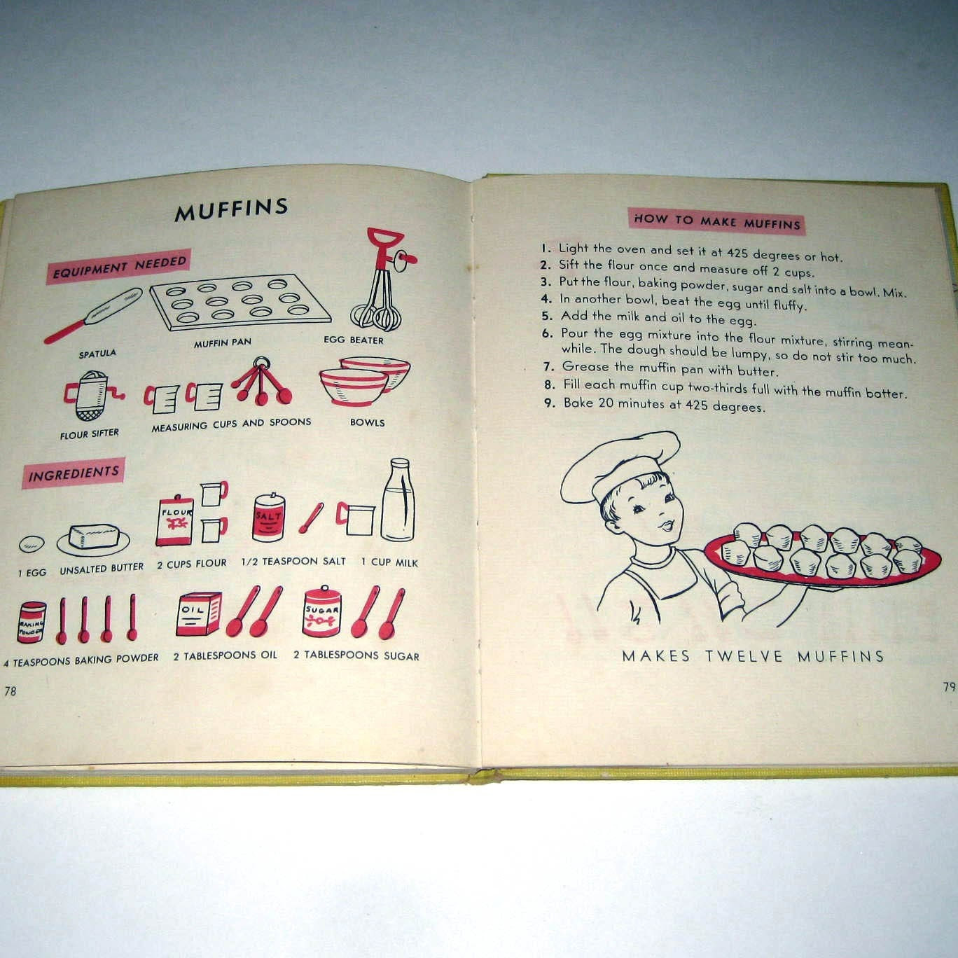 Vintage 1950s A Childs First Cook Book
