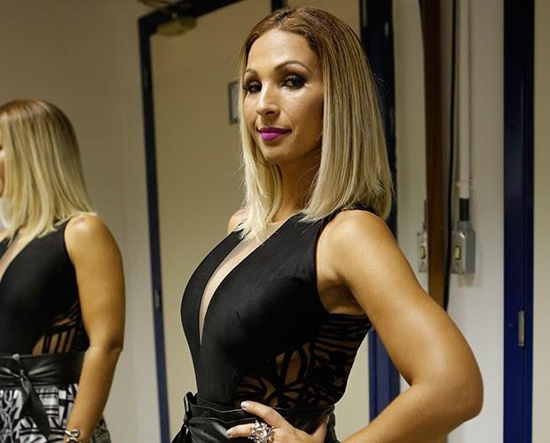 Valesca Popozuda nos bastidores do Caldeirão (Foto: Artur Meninea / TV Globo)