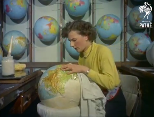A Look at How Terrestrial Globes Were Made in 1955