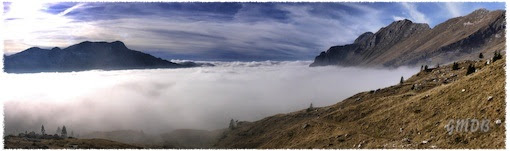 Il mare di nuvole fra il Canin ed il Montasio