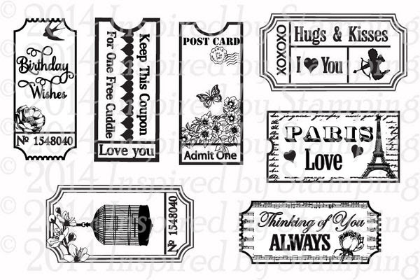 Inspired by Stamping Vintage Tickets stamp set