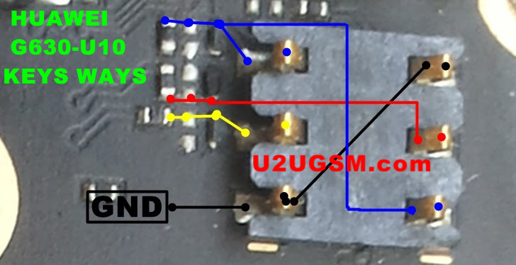 Huawei G630-U10 Sim Card Reader Connector Repair Solution