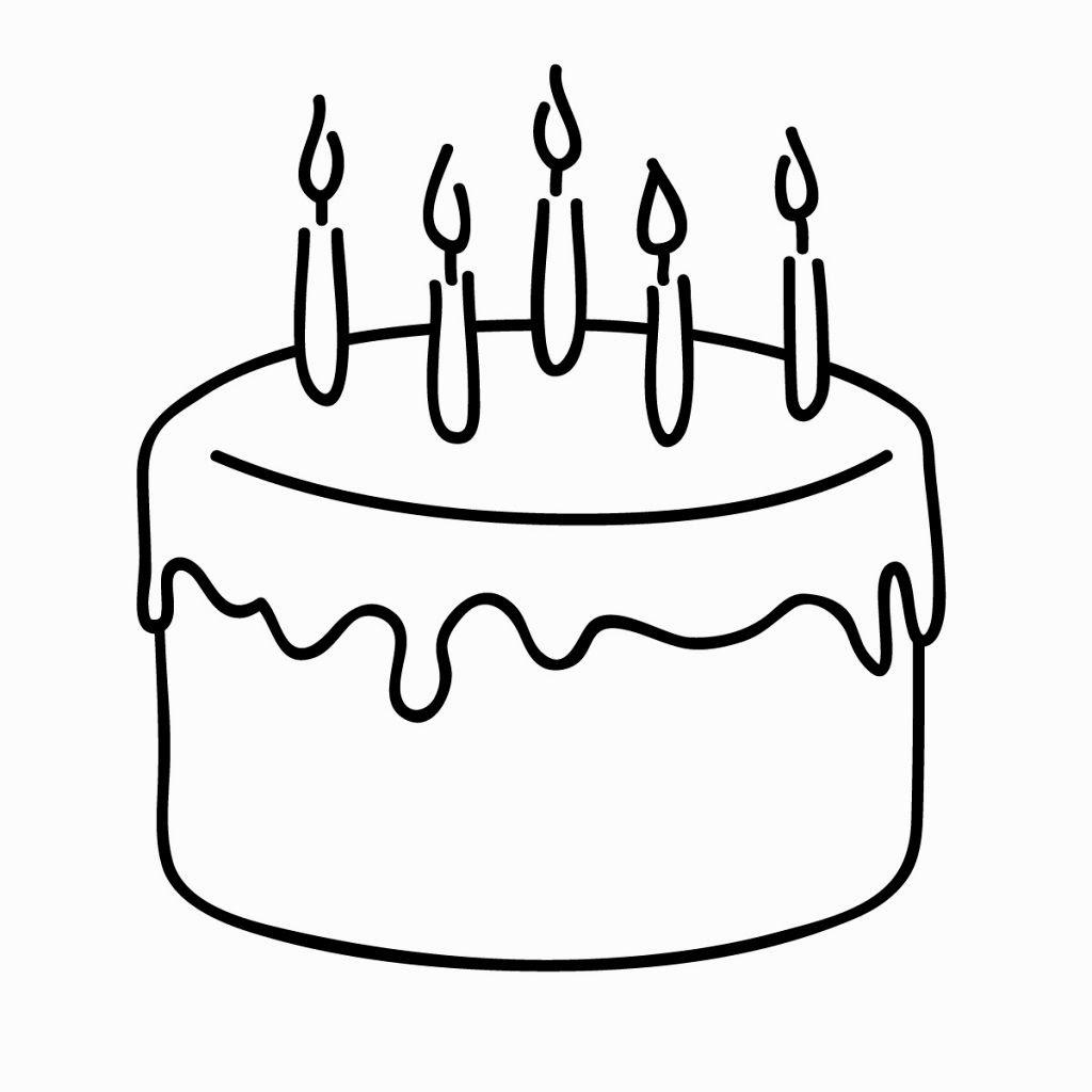 Etihadcopysystem Drawing Easy Cake Birthday Happy