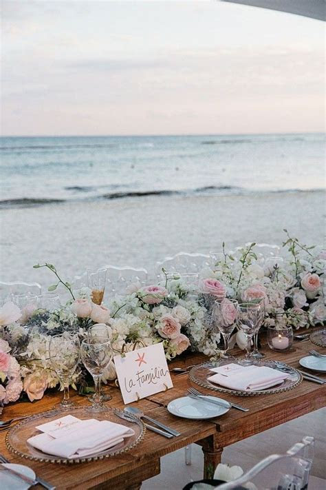 Glamorous Mexico Destination Wedding by the Beach   beach