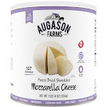 Augason Farms Gluten Free Freeze Dried Shredded Mozzarella Cheese - 30 oz can
