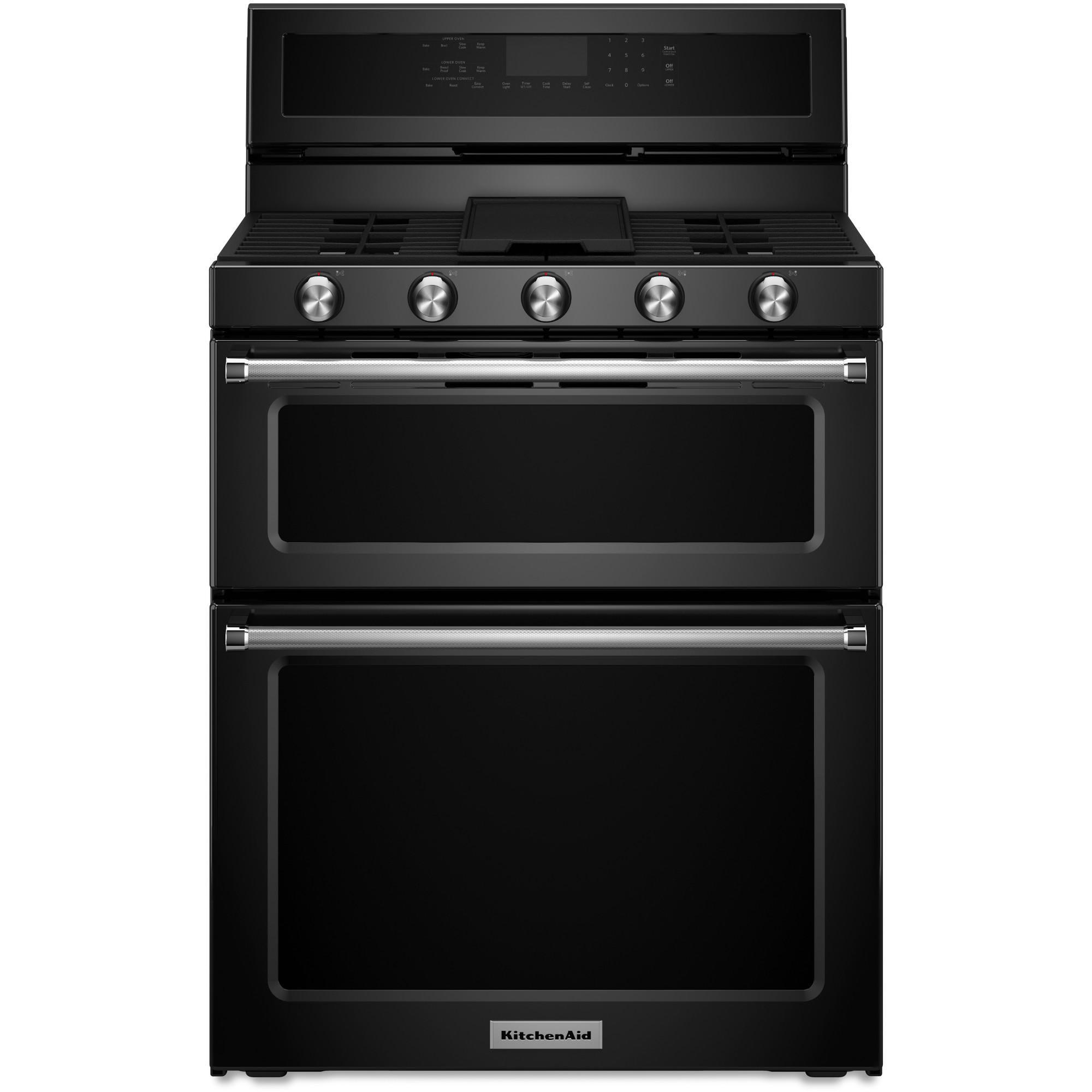KitchenAid - KFGD500EBL - 6.0 cu. ft. 5-Burner Gas Double ...