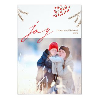 Winter Joy Holiday Photo Card