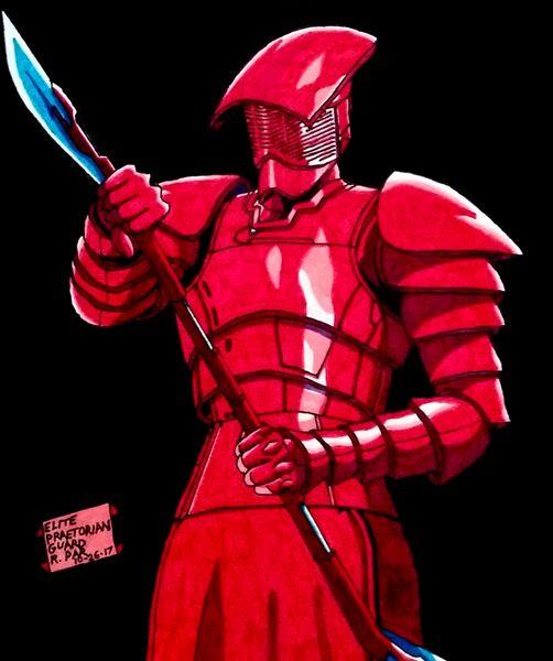My drawing of an Elite Praetorian Guard from STAR WARS: THE LAST JEDI.