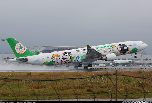 Aviation Greats — One of the cool EVA Air special liveries departing...