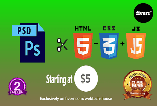webtechshouse : I will convert psd to html with responsive for $5 on www.fiverr.com