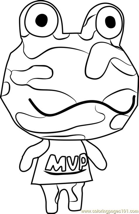 camofrog animal crossing coloring page  animal