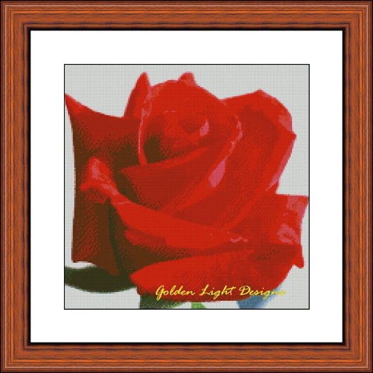 041-FL.G Red Rose