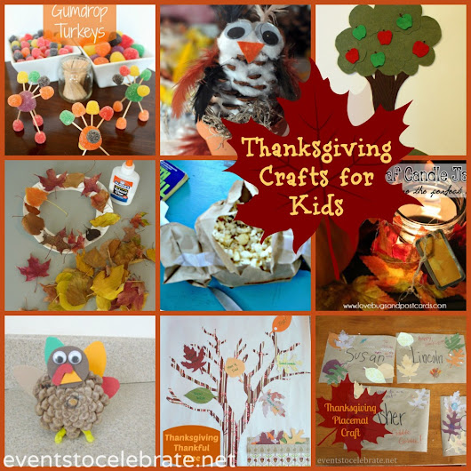 Thanksgiving Crafts for Kids: Round-up - events to CELEBRATE!