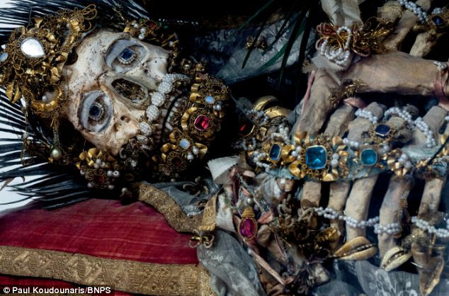 St Valerius in Weyarn: Art historian Paul Koudounaris hunted down and photographed dozens of gruesome skeletons in some of the world's most secretive religious establishments