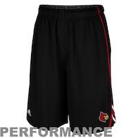 adidas Louisville Cardinals Sideline Player Performance Shorts - Black
