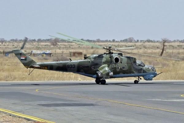 Un helicóptero Mi-24P de la fuerza aérea de Sudán (Foto: Eduard Onischenko / RussianPlanes)