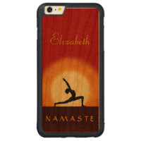 Yoga Sunrise Pose Namaste Wooden iPhone 6 6S Plus Carved® Cherry iPhone 6 Plus Bumper Case