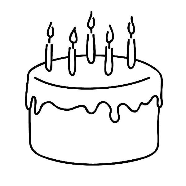 Cakeblack And Whitecakeclipart Without Candles Black