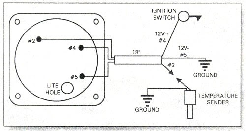 auto meter wiring diagram water temp  12v actuator wiring