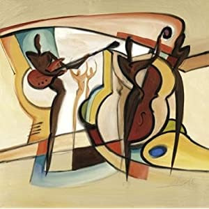 Blind Willy's III (triptych, center panel) by Alfred Gockel - 27 1/2 x 27 1/2 inches - Fine Art Print / Poster