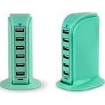 Aduro PowerUp 40W 6 Port Hub USB Charging Station Turquoise