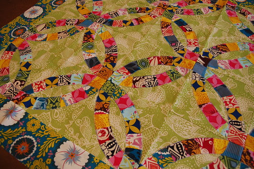 Tammy 39s Double Wedding Ring Quilt by the workroom
