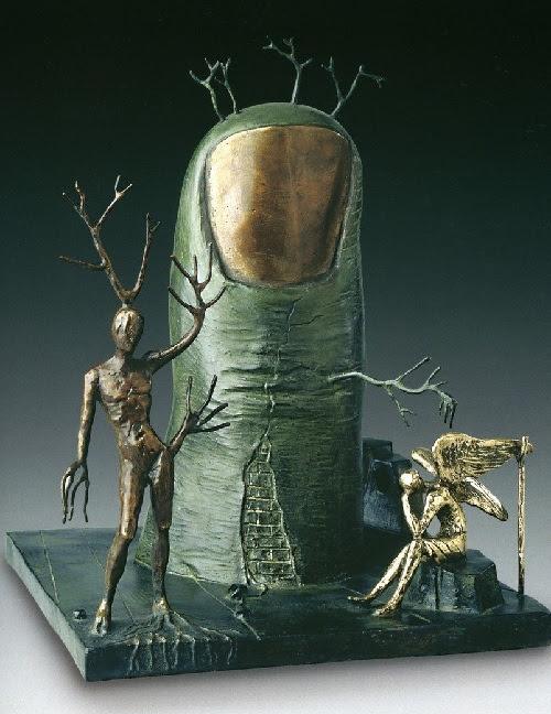 Visión de un ángel.  Escultura de bronce de Salvador Dalí