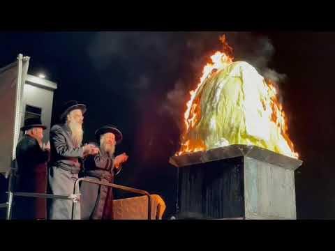 Lag Baomer celebration by Bobov-45 Rabbi
