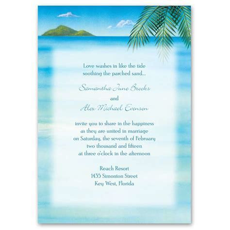 Ocean View Invitation with Free Response Card   Ann's