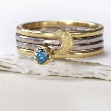 Moon Stacking Ring, 18ct Eco Gold ? Lilia Nash