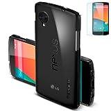 【国内正規品】Spigen Nexus 5 ケース ウルトラ フィット シェル (エコパッケージ)(日本製液晶保護フィルム付き)(360°保護)(ハードケース)(クリスタル【SGP10650】)