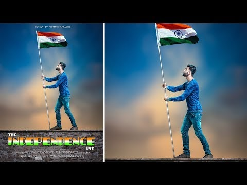 Independence Day special | Movie Poster Style |Photoshop Editing Tutoria...