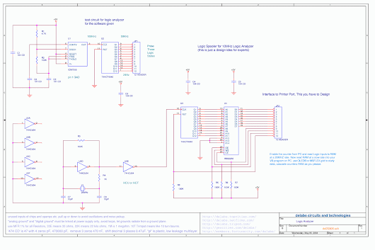 Printer Port Logic Analyzer - delabs Schematics - Electronic Circuits