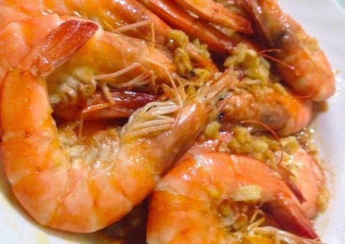 How to Prepare Yummy Garlic Butter Shrimps LCHF : Keto