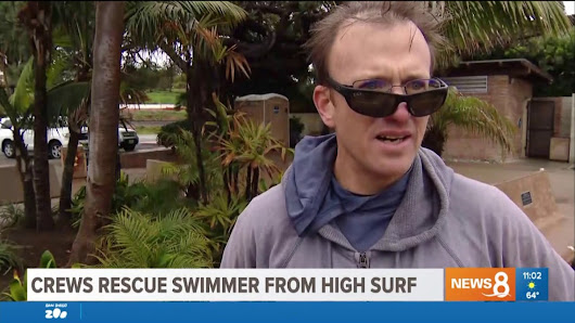 Crews rescue swimmer from high surf in Encinitas | Swimmer's Daily