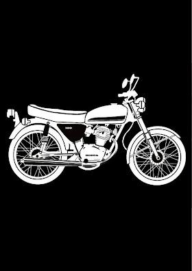 Sketsa Motor Klasik