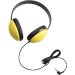Califone 2800 Listening First Stereo Headphones - Stereo - Yellow - Mini-phone - Wired - 25 Ohm - Over-the-head - Binaural - Ear-cup - 5.50 ft Cable