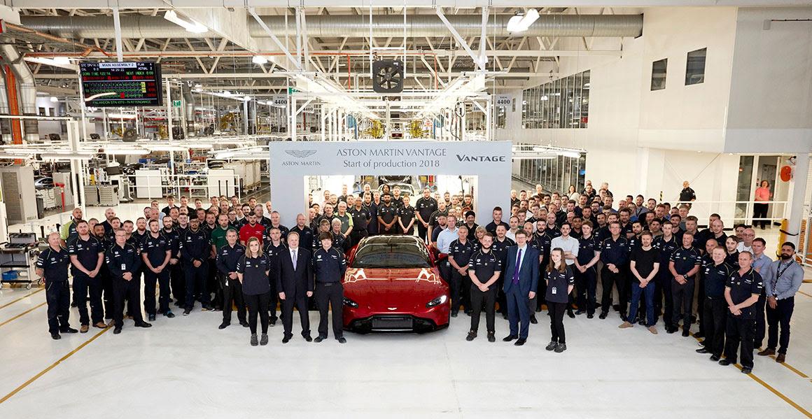 New Aston Martin Vantage Begins Production
