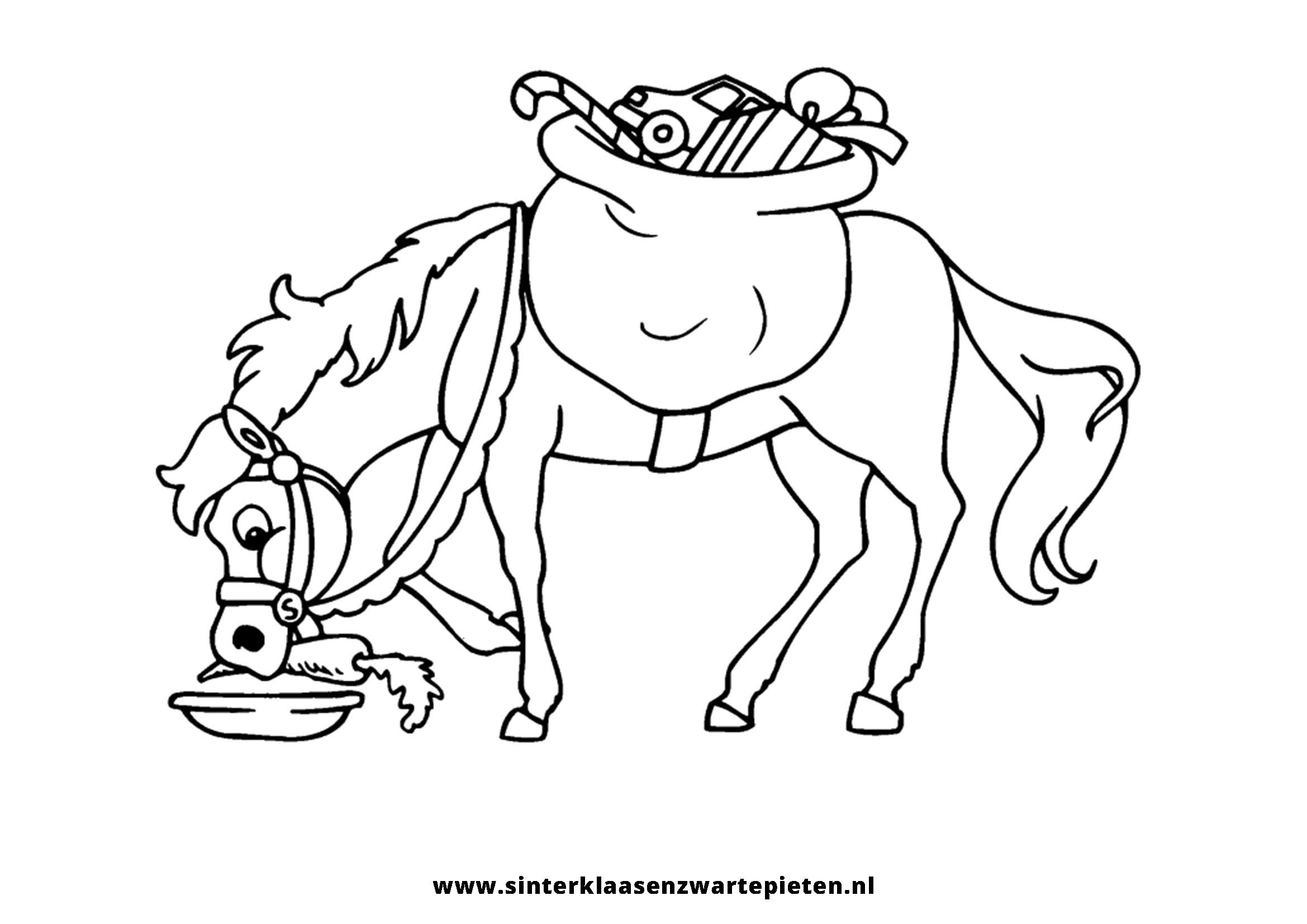 Kleurplaten Van Sinterklaas Zijn Paard.Mooie Paard Van Sinterklaas Kleurplaat Krijg Duizenden