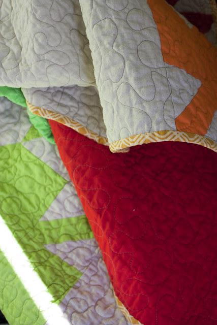 Modern Maples Quilt Binding