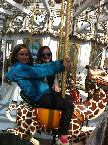 On the Carousel in Yerba Buena