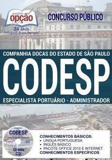 APOSTILA CODESP ESPECIALISTA PORTUÁRIO - ADMINISTRADOR