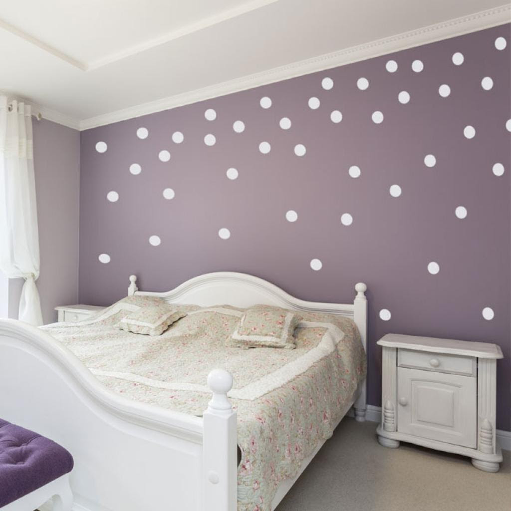 How To Paint Polka Dots On A Wall - wall murals decals